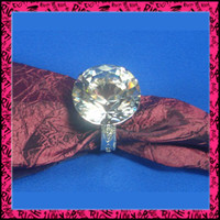 Wholesale napkin holder crystal Napkin Rings Wedding