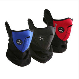 Wholesale drop shipping Ski Snowboard Bike Motorcycle Face Mask Neck Warm black blue red as photo can choose