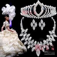 Wedding best wedding presents - Hot Sale Rhinestone Wedding Jewelry Sets Best Presents For Bride T001