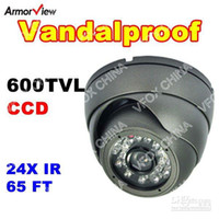 CCD Guangdong China (Mainland) Video Camera Vandalproof Dome Camera High Resolution 600TVL 1 3 Inch SHARP CCD 24 LED Security Camera CCTV Camera