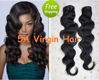 Wholesale DHL Body Wave peruvian A virgin remy human hair g products in stock
