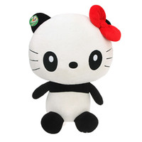 Wholesale Fluttering dragon Panda doll doll doll hello panda pillow Kitty plush toy birthday gift