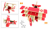 Wholesale DIY solar Aircraft helicopters Solar assembled model Wooden educational toys Family games solar small aircraft series
