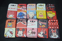 Wholesale Wallet Cartoon Winnie Stitch Bear Monkey Credit Card Leather Case Cover for Sanmsung Galaxy S3 i9300