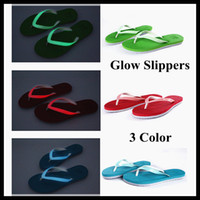 glow in the dark flip flops - 2013 Glow Slippers Beach Slipper Special Novelty New Luminous slippers Glow in the dark flip slippers creative slippers new