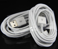 Wholesale 2m m ft ft cable USB data cord syncing and charging cable cord for ipad iphone s white color