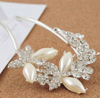 white/blue/champagne/ pink fashion Women's New style Korean Fine butterfly pearl white bridal hairpin pink blue crystal rhinestone wedding hair accessories for women t5116