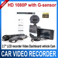 Wholesale HD P car dvr camera quot LCD recorder Video Dashboard vehicle Cam G sensor