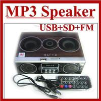 Universal su12 - Mini Sound box MP3 player Mobile Speaker boombox FM Radio SD Card reader USB SU12 Lots50