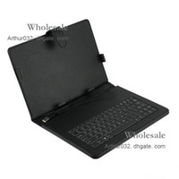 Universal 10inch Tablet PC 10.2 inch mid - Fashion New Black USB Keyboard Folding Leather Case with Stand Cover for inch Wpad Epad Flytouch Laptop Tablet PC MID Android