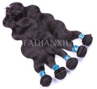 Wholesale FDX AAAAA Body Wave Virgin Brazilian Remy Human Hair Weave Mixed Lengths Remy Hair Bulk g Natural Color DHL