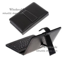 Wholesale Crazy Deal USB Keyboard Folding Leather Case with Stand Cover for inch Apad Epad Flytouch Laptop Tablet PC MID Android
