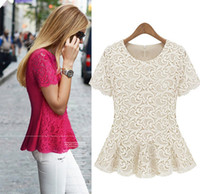 Cheap XXXXL Plus size Lace Crochet Vintage Tee Shirts Girl summer Cute Rose Black Dudalina womens tops fashion tshirts Blusa harajuku freeshipping
