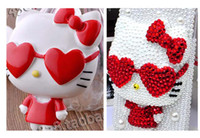 Animals animal mobile craft - retail DIY cartoon red heart beads for cellphone mobile phone cases scrapbook jewelry decorations nail art gift craft tools