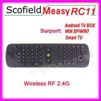 Wholesale Measy RC11 Gyroscope Mini Fly Air Mouse GHz Wireless Keyboard For Google Android Mini PC TV Palyer BOX