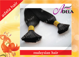 Wholesale High Quality inch Silky Straight g Natural Color Malaysian Virgin Hair Bulk Can Dyed Dark Color