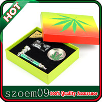 Wholesale Great Gift Very Nice in Engraved Leaf Design Smoking Pipe Pipe Screens Cigarette Cigar Grinder