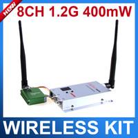 Wholesale 1 G mW ch Wireless AV Transmitter Receiver System Audio VIdeo Trasmitter kit Wireless Transmitter Receiver Kit