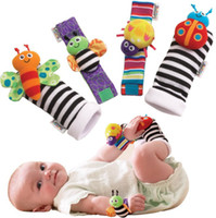 4 Styles Lamaze Wrist rattle foot finder Baby toy foot Sock ...