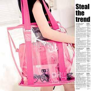 Drop Shipping New Style PVC Transparent Beach Bags Womens ...