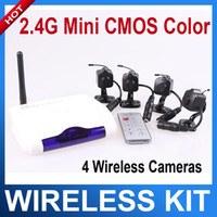 Wholesale 2 G CH mini Wireless camera Home USB DVR CCTV Security surveillance System wireless cctv camera system kit