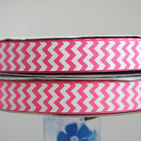 chevron fabric - Fabrics and Sewing Tools mm hot pink chevron grosgrain ribbon quot printed ribbon yds Polyester Arts Crafts amp Gifts