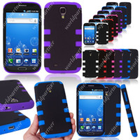 armor gear - Heavy Duty in Hard Plastic Silicone gel Rubber Combo Armor Gear Case Cover Skin Shell for Samsung Galaxy S4 SIV I9500 Mix Colors