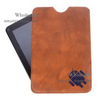 Wholesale Newest Arrival Soft Sleeve Genuine Leather Cover Case Pouch Pouches Bags For inch Epad Apad iPad E book Laptop MID Tablet PC