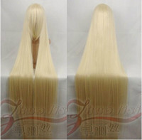 Wholesale Popular New Extra Long Light Golden Blonde Cosplay Wig inch High Temp