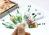 dustproof - Starbucks Coffee Cup Dustproof Ear Cap Plug Earphone Jack Anti dust Plug for iphone S G