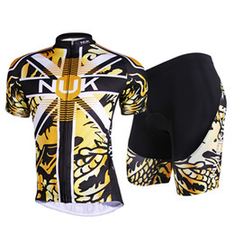New Yellow Black Comfortable Outdoor Cycling Bike Jersey + shorts Bicycle S - 3XL
