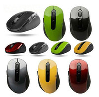 Wholesale 100pcs Portable Bluetooth Wireless Optical USB Mouse RF GHz for PC Laptop MAC Notebook XP WIN7 Vista