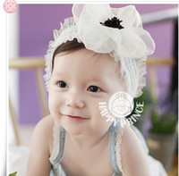Wholesale children baby girl s hair accessories hair band big rose head band big flower head band hot sell