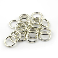 Slides, Sliders jump rings - 100PCS Top Quality Jewellery Necklace Scarf Pendant Silver Round Plastic Charm CCB Rings Accessories AC0057A