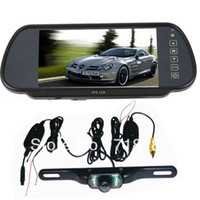Wholesale 7 quot LCD Monitor Car Rear View Mirror Kit Wireless GHZ Reverse reversing Camera