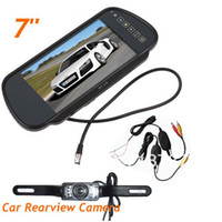 "Car Camera   7"" LCD Monitor Car Rear View Mirror Kit + Wireless 2.4GHZ Reverse reversing Camera 10pcs lot"