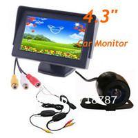 "Car Camera   Wireless Mini Reverse Reversing Camera 170 degree + 4.3"" LCD Monitor Car Rear View Kit 30pcs lot"