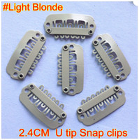 Wholesale 100pcs pack mm L blonde U Tip Snap Clips for Hair Extension Tools Black Blonde Brown Color In Stock