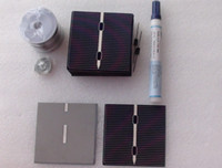 Wholesale 78 solar pael solar cells pc with tab wire bus wire and flux pen for DIY solar panel kit