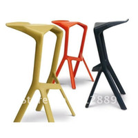 Wholesale 1Piece Bar Club Stool Hot Sale Home Furniture Color White Black Miuru Chair