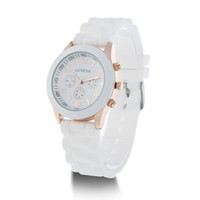Wholesale Pieces New Shadow Style Geneva Watch Rubber Candy Jelly Fashion Men Women Silicone Quartz Watches Dropship