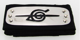Wholesale Black Naruto Retaining The Amount Of Naruto Accessories Konoha Headband Naruto Cosplay Headband