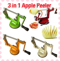 Wholesale 3 in Apple Machine Peeler Corer Potato Fruit Cutter Slicer Kitchen Tool Multi functional