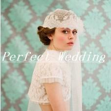 Wholesale 2013 Hot Sale Beautiful White Lace New Stylish Bride Hat Veil Headwear Accessories