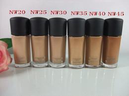 6pcs High quality NW STYLE Foundation Liquid Studio Liquid foundation SPF15 30ML