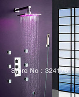 Wholesale Temperature control color change LED Light Rainfall Shower Mixer