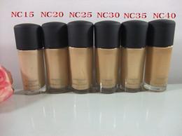 6pcs High quality makeup NC STYLE Foundation Liquid Studio Liquid foundation SPF15 30ML