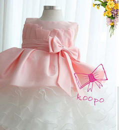 Wholesale Girl Bow Dresses Baby Girl Party Dress Pageant Dress summer Tutu Girls dresses dandys