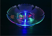 Wholesale New fashion fruit dish LED light candy plate home party wedding bar club Decor