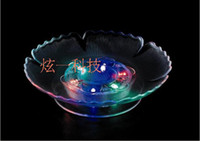 Wholesale Led flashing fruit dish LED light candy plate home party wedding bar club Decor